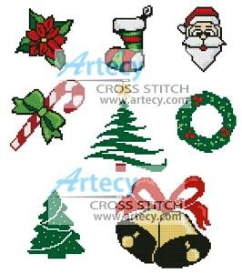 cross stitch pattern Christmas Motifs