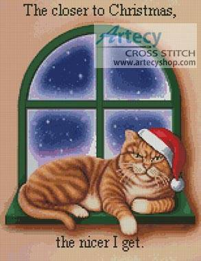 cross stitch pattern Closer to Christmas