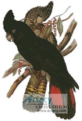 cross stitch pattern Cockatoos