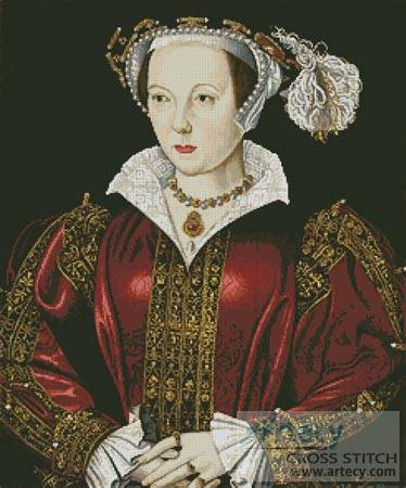 cross stitch pattern Catherine Parr