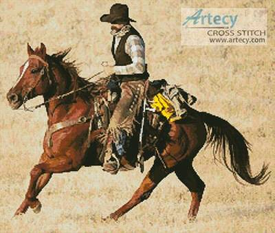 cross stitch pattern Cowboy 2