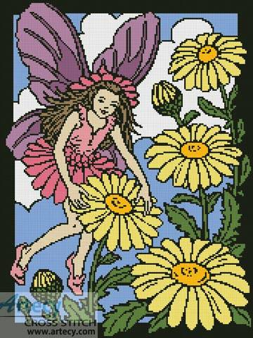 cross stitch pattern Daisy Fairy 2