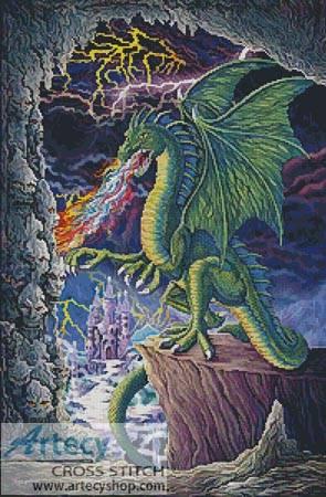cross stitch pattern Dragons Lair
