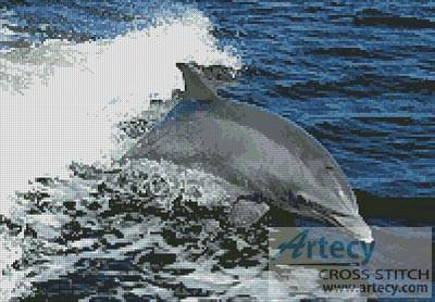 cross stitch pattern Dolphin Photo