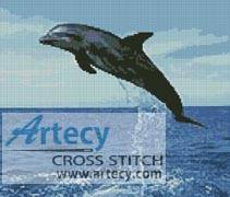 cross stitch pattern Dolphin Leap