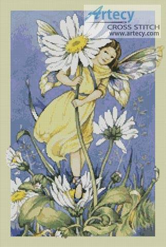 cross stitch pattern Daisy Fairy