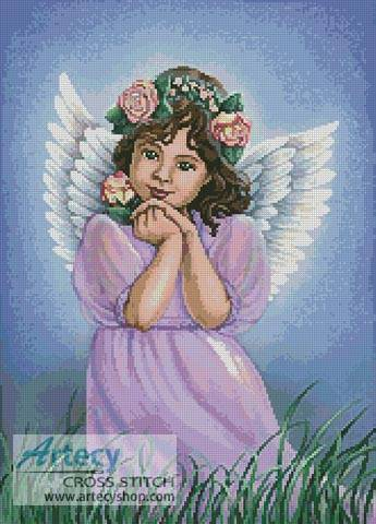 cross stitch pattern Angel of the Earth
