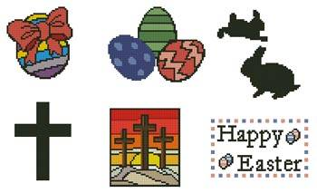 cross stitch pattern Easter Motifs 1