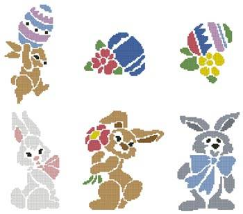 cross stitch pattern Easter Motifs 2