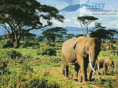 cross stitch pattern Elephants