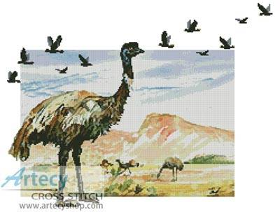 cross stitch pattern Emu