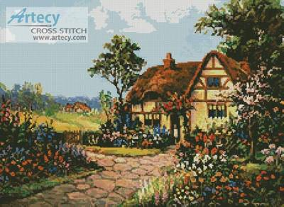 cross stitch pattern English Cottage 3