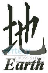 cross stitch pattern Earth Asian Symbol