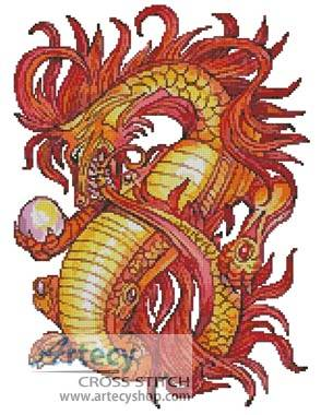cross stitch pattern Eternity Dragon