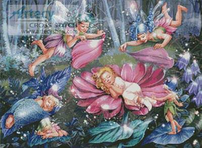 cross stitch pattern Evening Fairies