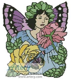 cross stitch pattern Flower Fairy 2