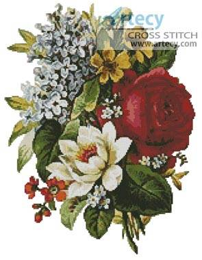 cross stitch pattern Flower Bouquet