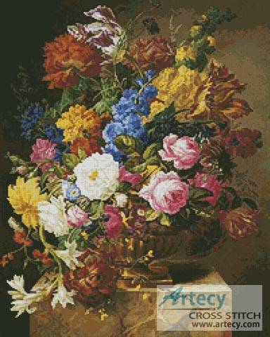 cross stitch pattern Flower Bouquet  2