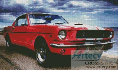 cross stitch pattern Ford Mustang