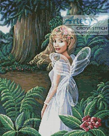 cross stitch pattern Forest Fairy