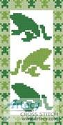 cross stitch pattern Frog Bookmark