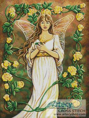 cross stitch pattern Fairy Rose