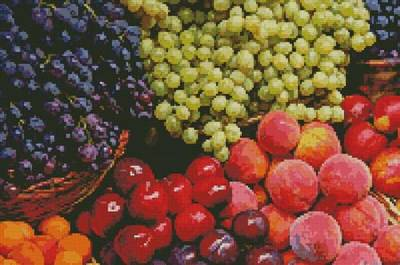 cross stitch pattern Fruits