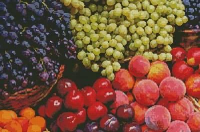 cross stitch pattern Fruits