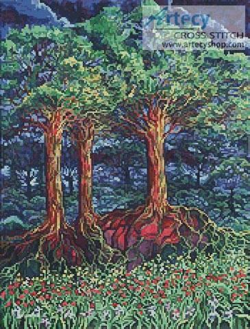 cross stitch pattern Fantasy Trees