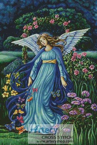 cross stitch pattern Garden Angel