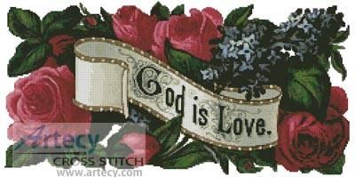 cross stitch pattern God is Love