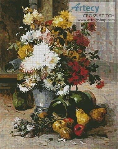 cross stitch pattern Grand Bouquet of Flowers