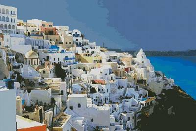 cross stitch pattern Greece 2