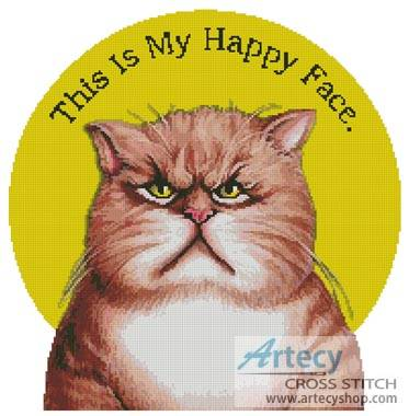 cross stitch pattern Happy Face