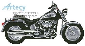 cross stitch pattern Harley 1