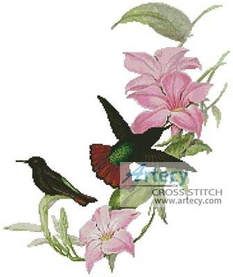 cross stitch pattern Hummingbirds