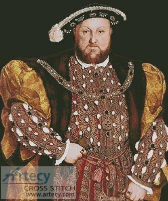 cross stitch pattern Henry the VIII