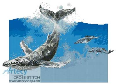 cross stitch pattern Humpback Whale