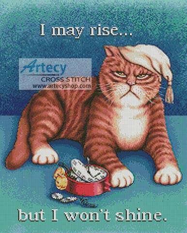 cross stitch pattern I May Rise...