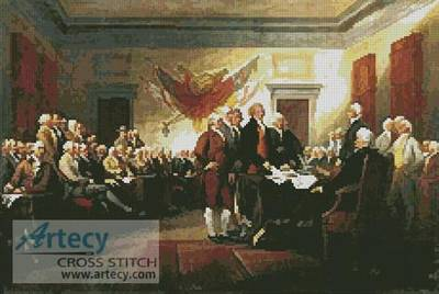 cross stitch pattern Declaration of Independence