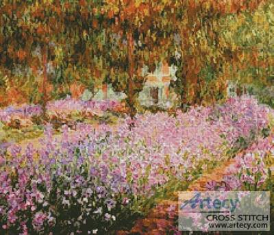 cross stitch pattern The Irises in Monet's Garden 2