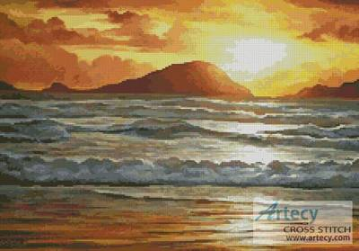 cross stitch pattern Island Sunset