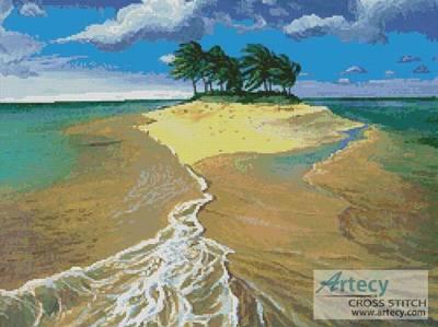 cross stitch pattern Island Painting