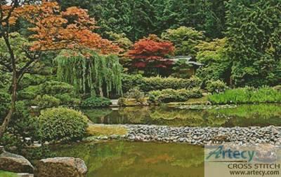 cross stitch pattern Japanese Garden  Seattle