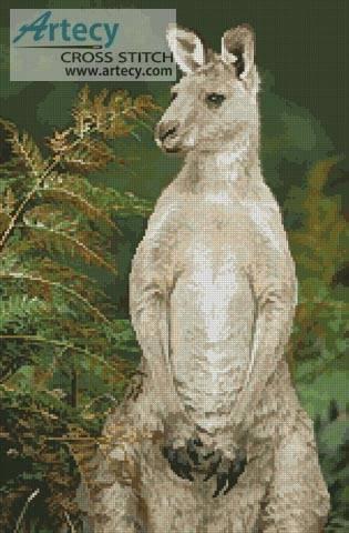 cross stitch pattern Kangaroo Photo