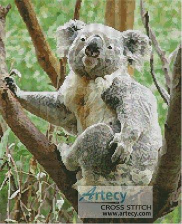 cross stitch pattern Koala Scratch