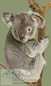 cross stitch pattern Koala in Tree