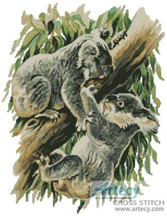 cross stitch pattern Koala Argument