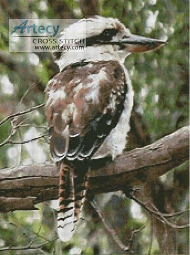 cross stitch pattern Kookaburra