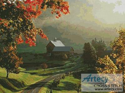 Landscape 16 Cross Stitch Pattern Farm